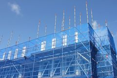 Scaffolding at new build Stock Photography
