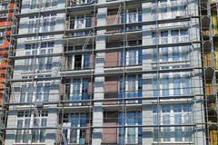 Scaffolding on new building Royalty Free Stock Images