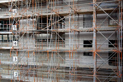 Scaffolding for new buildings Stock Photography