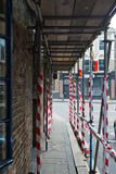Scaffolding over the pedestrian footpath Stock Image