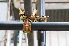 Free Scaffolding Pipe Clamp And Parts Royalty Free Stock Photo - 73881245