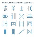 Scaffolding pipe icon Stock Photo