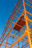 Scaffolding Pipes and Blue Sky Stock Photography