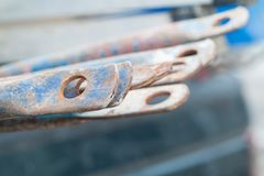 Scaffolding pipes Royalty Free Stock Photos
