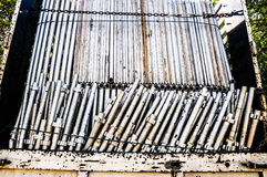 Scaffolding pipes Royalty Free Stock Photo