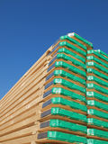 Scaffolding planks. Are stacked for use Stock Photography