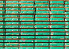 Scaffolding planks. Stacked for use Stock Photos