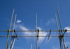 Scaffolding poles Stock Photos