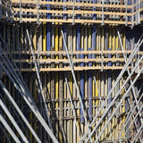 Scaffolding poles background Royalty Free Stock Photography