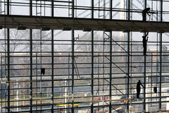 Scaffolding preparation Stock Photo