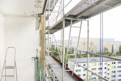 Scaffolding set on a skyscraper. Stock Images