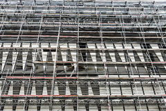 Scaffolding on a skyscraper in Germany Stock Photos