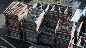 Scaffolding in Storage Stock Image