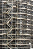 Scaffolding Surrounding Building. Building restoration work in the centre of Glasgow, Scotland royalty free stock image
