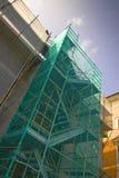 Scaffolding to work on the facade Stock Photos