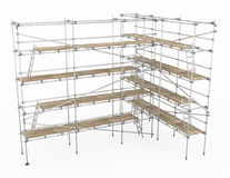 Scaffolding Turn Stock Photo