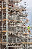 Scaffolding on a UK construction site Stock Photos