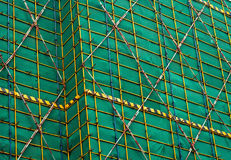 Scaffolding at urban construction site Royalty Free Stock Photography
