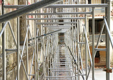 Scaffolding using in Construction Site Stock Photos