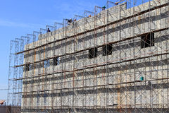 The Scaffolding Wall Royalty Free Stock Photos