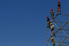 SCAFFOLDING WORKERS Stock Photos