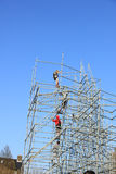 Scaffolding workers Royalty Free Stock Image