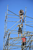 Scaffolding workers Royalty Free Stock Images