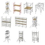 10 scaffoldings. Collection of 3d renders - 10 scaffoldings royalty free illustration