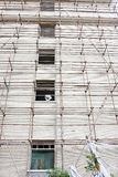 Scaffolds on a building Royalty Free Stock Images