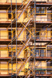 Scaffoliding in sunlight Royalty Free Stock Photo