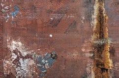 Scafo di nave della pittura della sbucciatura fotografia stock