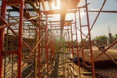 Scafolding and construction site royalty free stock photography