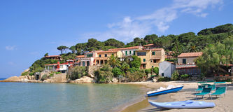 Scagliari, île d'Île d'Elbe, Italie photos stock