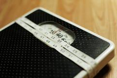 Scala 9 del peso Fotografia Stock