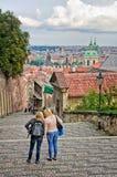 Scala al castello di Praga Fotografia Stock