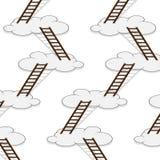 Scala al modello senza cuciture delle nuvole Fotografie Stock Libere da Diritti