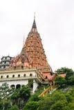 Scala al tempio ed alla pagoda Immagine Stock Libera da Diritti