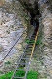 Scala alla caverna Fotografia Stock
