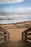 Scala alla spiaggia Immagine Stock Libera da Diritti