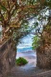 Scala alla spiaggia, Bali Fotografia Stock