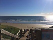 Scala alla spiaggia di pismo Fotografia Stock