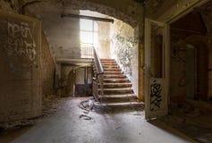 Scala alle cliniche Heal di Beelitz Fotografie Stock