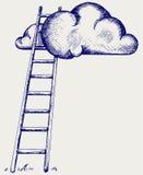 Scala alle nuvole Immagini Stock Libere da Diritti