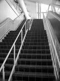 Scala in bianco e nero Fotografia Stock Libera da Diritti