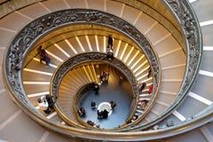 Scala a chiocciola nei musei del Vaticano Fotografia Stock Libera da Diritti