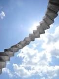 Scala a cielo Fotografia Stock Libera da Diritti