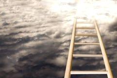 Scala a cielo Immagini Stock Libere da Diritti