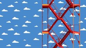 Scala a cielo illustrazione di stock
