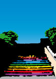 Scala colorata (vettore) Immagine Stock Libera da Diritti