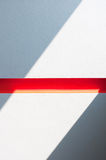 Scala con la barriera rossa fotografia stock